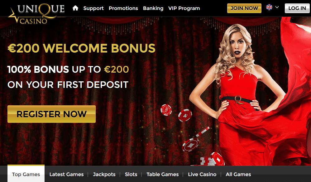 unique casino 10 free spins exclusive offer