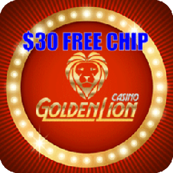 golden Lion casino $30 free chip