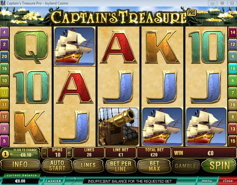 Captain's Treasure Pro slotgame